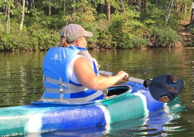 Kayaking at camp